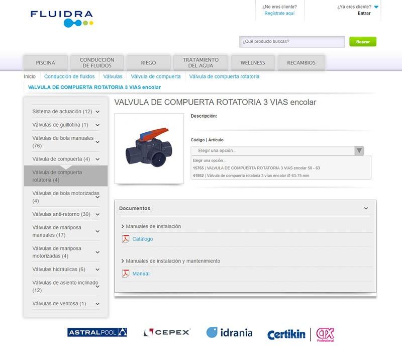 Fluidra webservice ERP rendimiento web eCommerce B2B - Alfa9