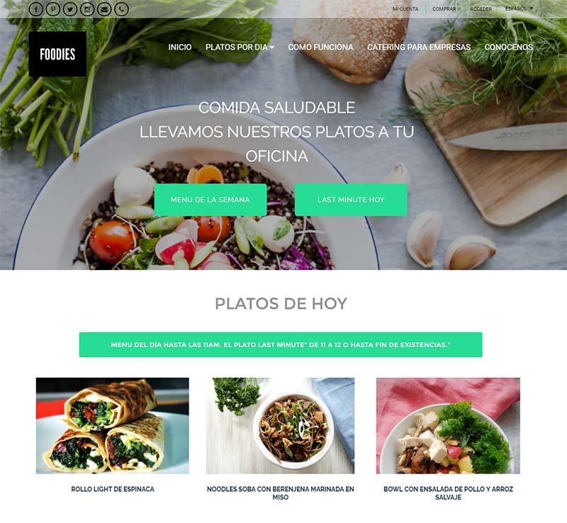 Foodies maquetación web y SEO