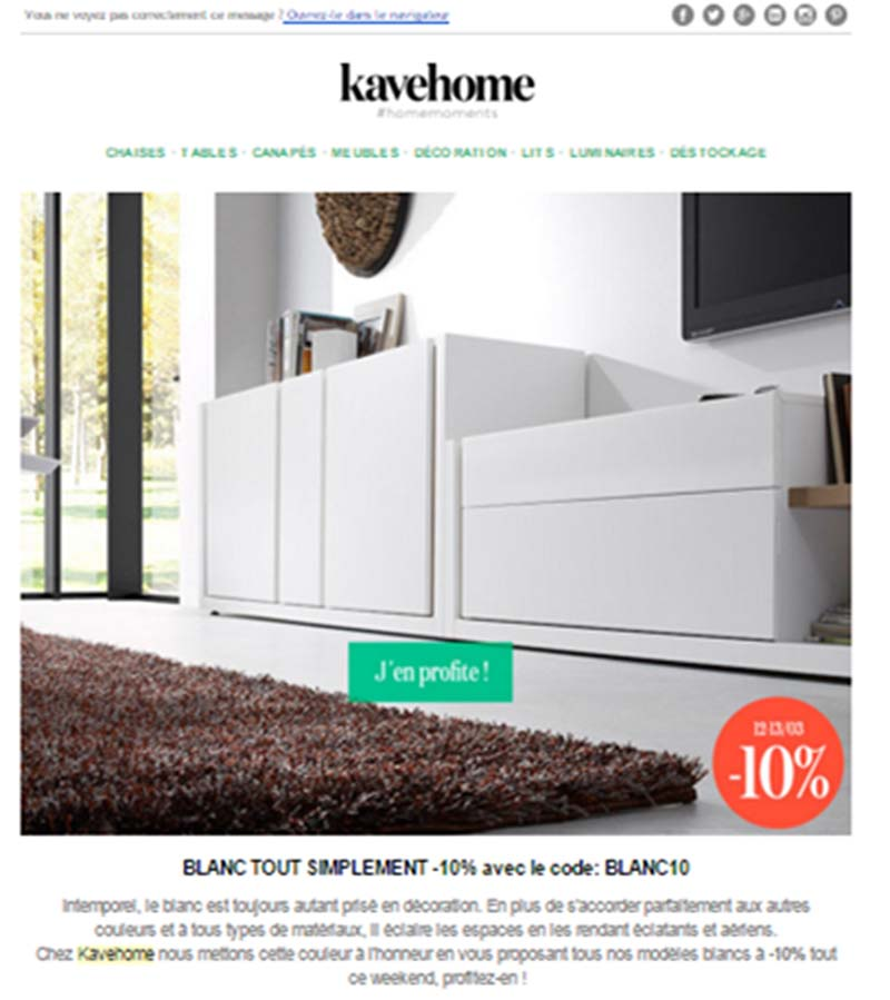 Kavehome desarrollo eCommerce y Marketing Automation