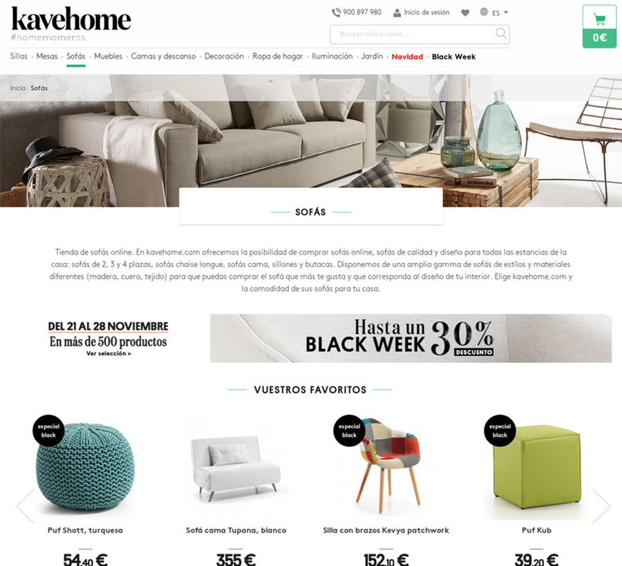 Kavehome Marketing Automation para eCommerce Magento - Alfa9